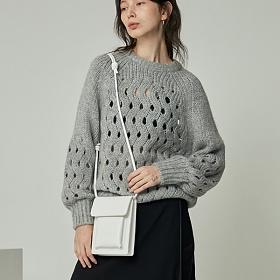 [사비] 4OUR B - mini rope bag _ white 미니 로프백 숄더백 크로스백 여성가방