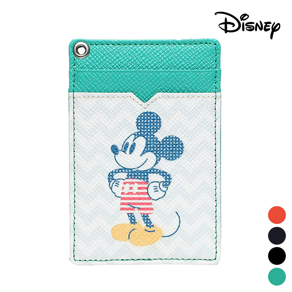 미키 마우스 카드 목걸이 지갑