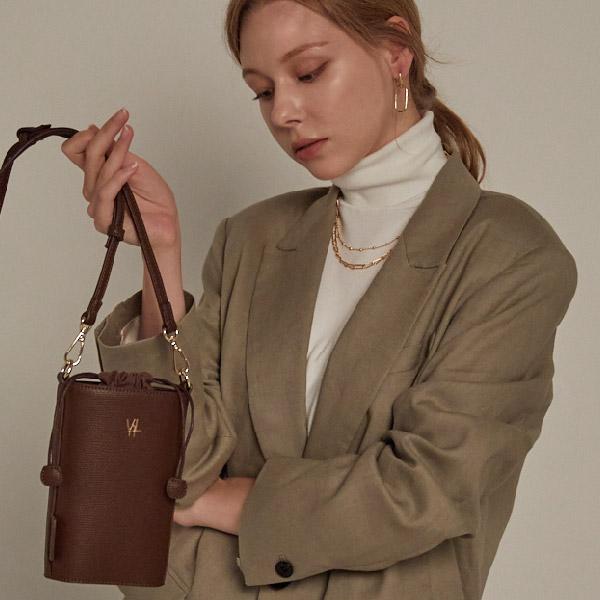 [밸럽]VALLUV - 제인(Dark Brown) 크로스백 여성가방