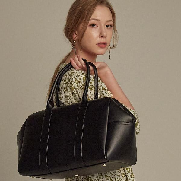 [밸럽]VALLUV - 리체(Black) 더플백 보스턴백 여행용가방 여성가방