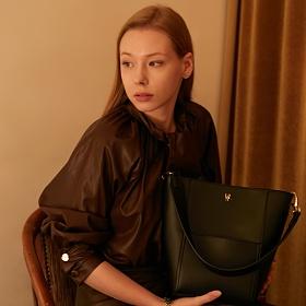밸럽 샤인(Black) 숄더백 토트백 여성가방