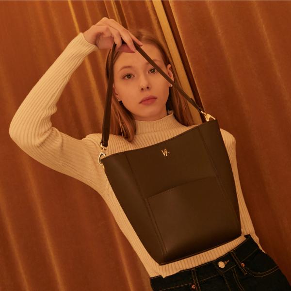 밸럽 샤인(Dark Brown) 숄더백 토트백 여성가방
