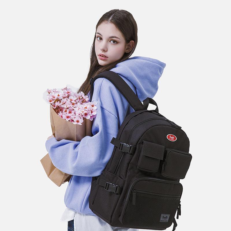 데이라이프 멀티 포켓 백팩 (블랙) 2021년 업그레이드 ver 스트링 학생가방 신학기