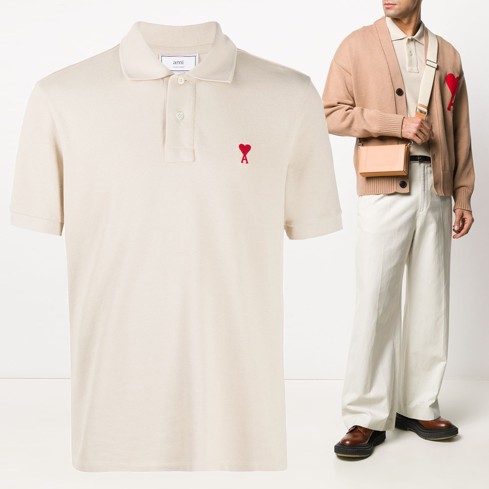 21SS 하트 로고 자수 카라 티셔츠 E21HJ207 760 250