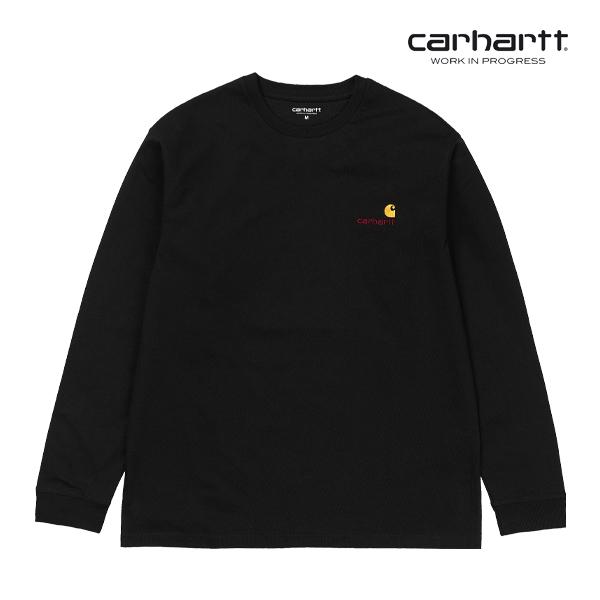 칼하트WIP L/S American Script T-Shirt (Black)