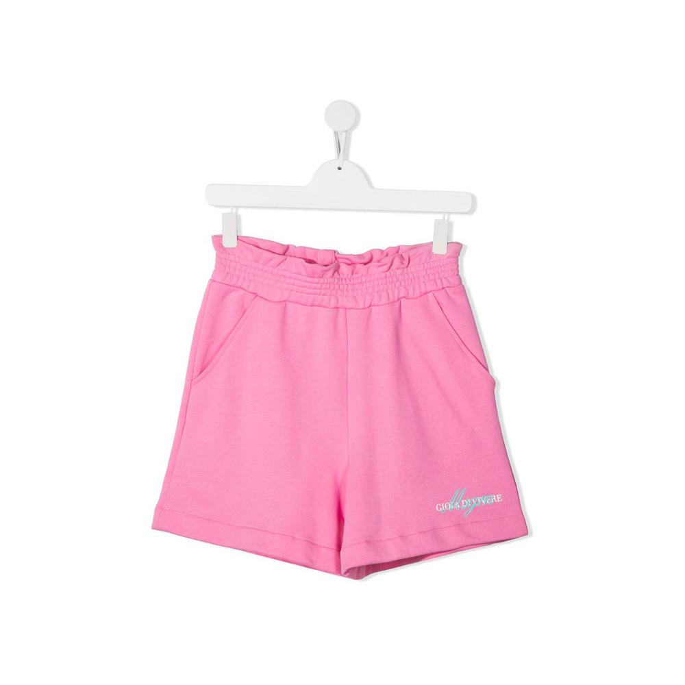 21SS 키즈 여성 로고 러플 반바지 핑크 MS026835 042