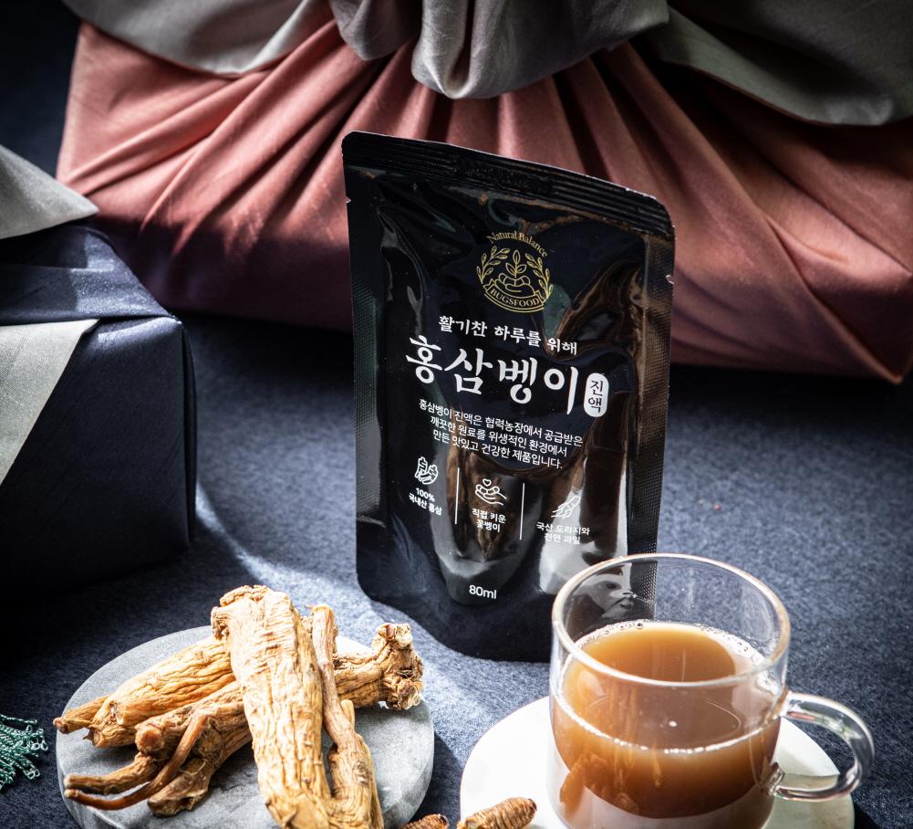 홍삼 꽃벵이 진액 블랙 2400ml