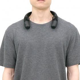 에어러블프로 휴대용 목걸이 선풍기 (자석+케이블) 블랙