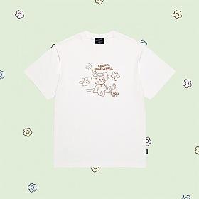 얼모스트블루 CANDY DRAWING T-SHIRTS 캔디 드로잉 반팔 티셔츠