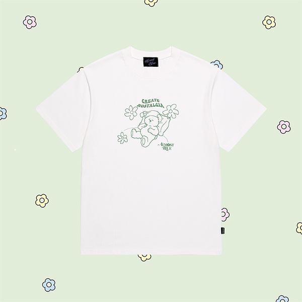 얼모스트블루 SODA DRAWING T-SHIRTS 소다 드로잉 반팔 티셔츠