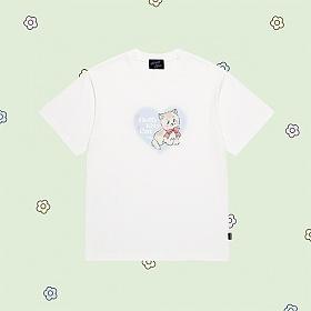 얼모스트블루 FLUFFY KITTY CAT T-SHIRTS 플러피 키티 캣 반팔 티셔츠