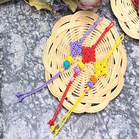디어드리머 핸드메이드 전통매듭 머리끈 국화매듭