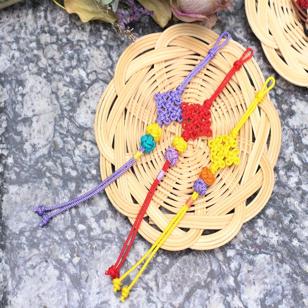 디어드리머 핸드메이드 전통 머리끈 생쪽 삼정자 매듭