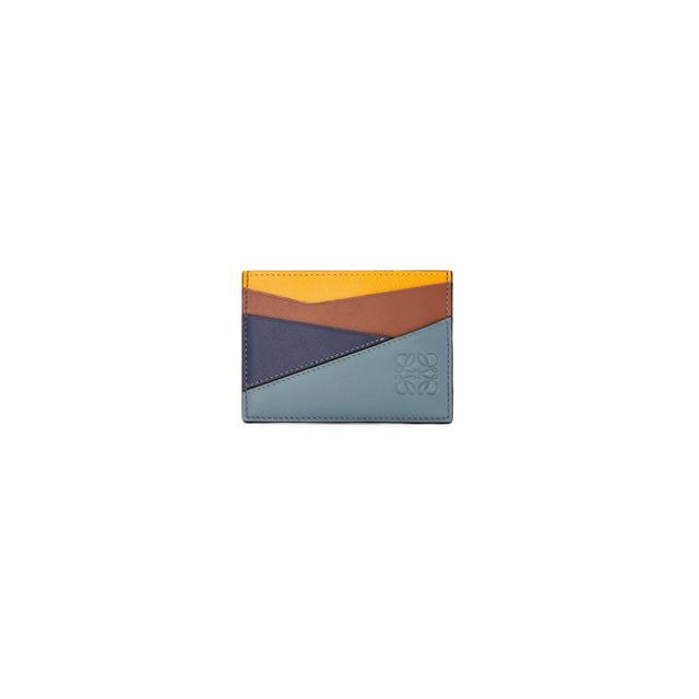 21FW 로에베 퍼즐 카드지갑 그린 옐로우 공용 C510V33X04 8297