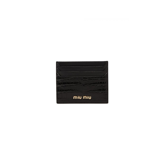 21FW 미우미우 로고 카드 지갑 블랙 여성 5MC002 2B8G F0002
