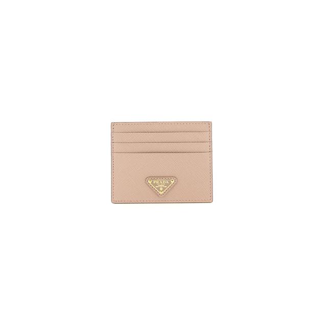 21FW 프라다 사피아노 트라이앵글 카드지갑 핑크 1MC025 QHH F0236