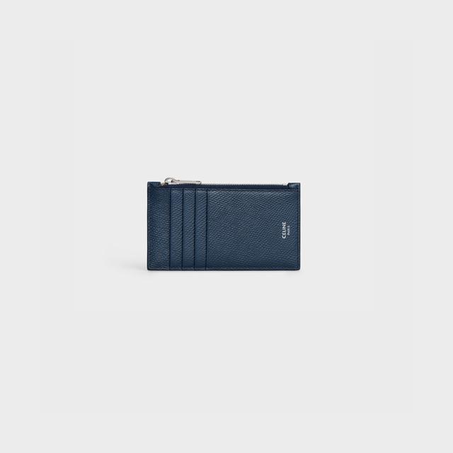 셀린느 지퍼 컴팩트 카드지갑 네이비 공용 10B683BEL 07OC