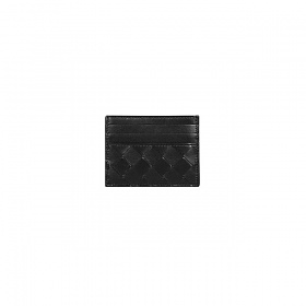 21FW 보테가베네타 인트리치아토 카드 지갑 블랙 공용 635042 VCPP3 8425