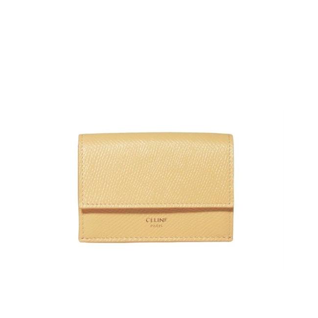 셀린느 그레인 카프스킨 폴드 반지갑 옐로우 10E603BEL 11PO