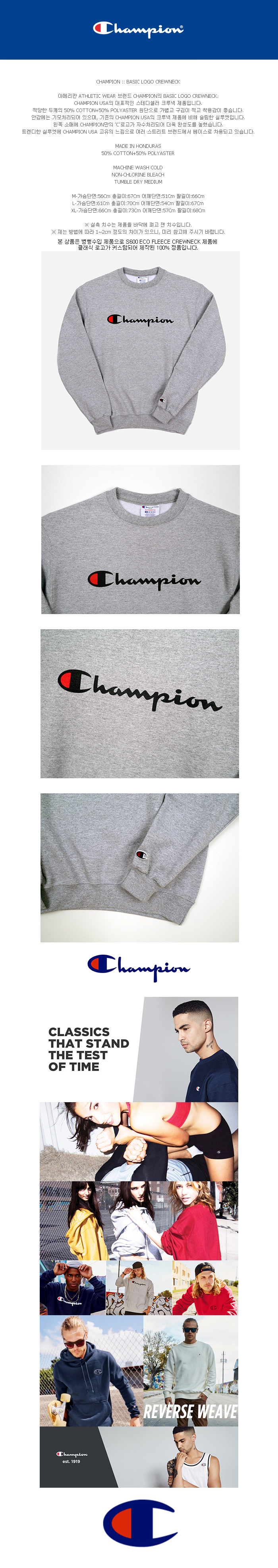 BASIC LOGO CREWNECK (GREY)